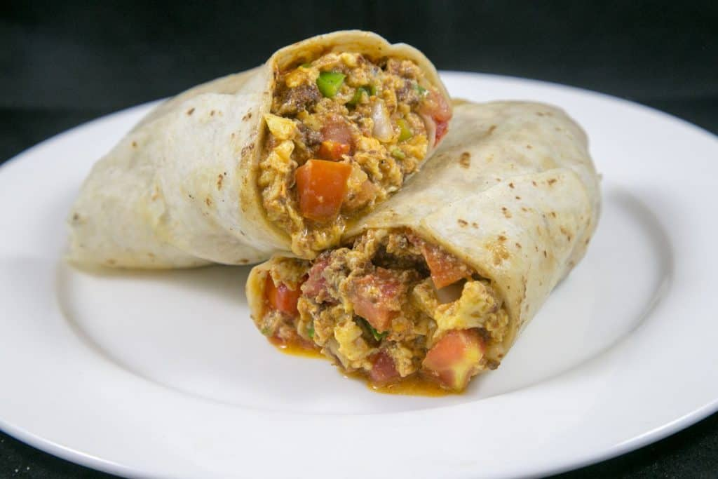 Breakfast Burrito with Chorizo